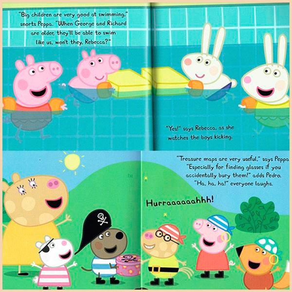 детская коллекция книг Peppa Pig 10 Books With 10 Cds In A Red Bag свинка пеппа