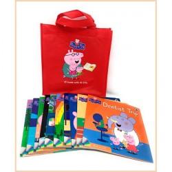 Детская коллекция книг Peppa Pig 10 books with 10 CDs in a red bag (Свинка Пеппа)