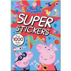 Детская книга со стикерами Peppa Pig Super Stickers Activity Book (Свинка Пеппа)