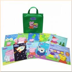 Детская коллекция книг Peppa Pig 10 books collection in a green bag (Свинка Пеппа)
