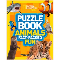Детская книга Puzzle Book Animals: Brain-tickling quizzes, sudokus, crosswords and wordsearches (National Geographic Kids Puzzle Books)
