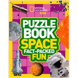 Детская книга Puzzle Book Space: Brain-tickling quizzes, sudokus, crosswords and wordsearches (National Geographic Kids Puzzle Books)