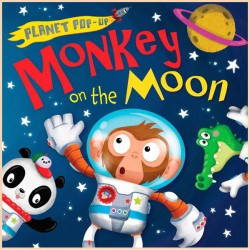 Детская книга Monkey on the Moon (Planet Pop Up)