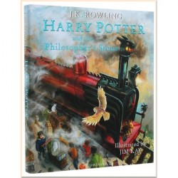 Детская книга JK Rowling Harry Potter and the Philosopher's Stone (Illustrated Edition, Гарри Поттер)
