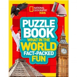 Детская книга Puzzle Book What in the World: Brain-tickling quizzes, sudokus, crosswords and wordsearches (National Geographic Kids Puzzle Books)