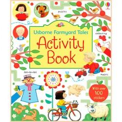 Детская книга со стикерами Usborne Farmyard Tales Activity Book