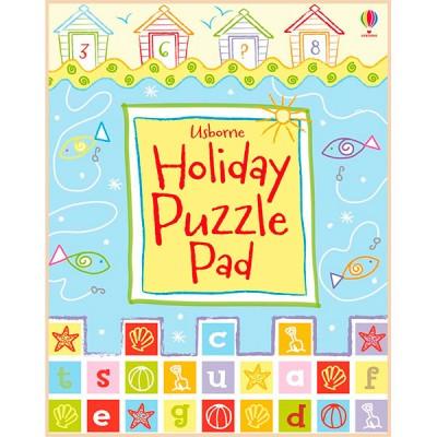 Детская книга Usborne Holiday Puzzle Pad