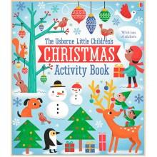 Детская книга со стикерами Usborne Little Children's Christmas Activity Book