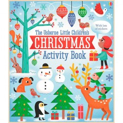 Детская книга со стикерами Usborne Little Children's Christmas Activity Book