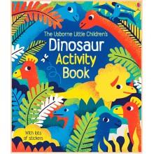 Детская книга со стикерами Usborne Little Children's Dinosaurs Activity Book