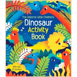 Детская книга со стикерами Usborne Little Children's Dinosaurs Activity Book