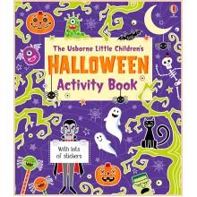 Детская книга со стикерами Usborne Little Children's Halloween Activity Book