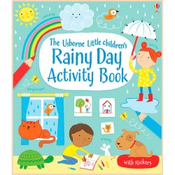 Детская книга со стикерами Usborne Little Children's Rainy Day Activity book