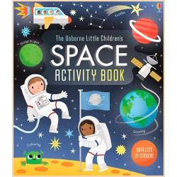 Детская книга со стикерами Usborne Little Children's Space Activity Book