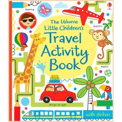 Детская книга со стикерами Usborne Little Children's Travel Activity Book