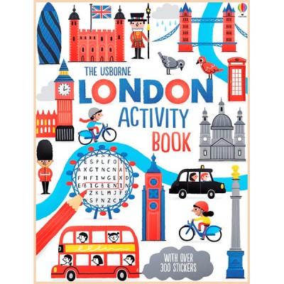 Детская книга со стикерами Usborne London Activity Book