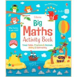 Детская книга со стикерами Usborne Big Maths Activity Book
