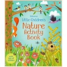 Детская книга со стикерами Usborne Little Children's Nature Activity Book