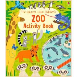 Детская книга со стикерами Usborne Little Children's Zoo Activity Book
