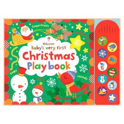 Детская книга с тактильными ощущениями, со звуковыми эффектами Baby's Very First Christmas Play Book