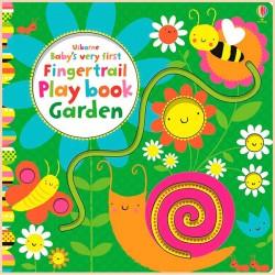 Детская книга с тактильными ощущениями Usborne Baby's Very First Fingertrail Play Book: Garden