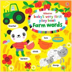 Детская книга с тактильными ощущениями Baby's Very First Play Book: Farm Words