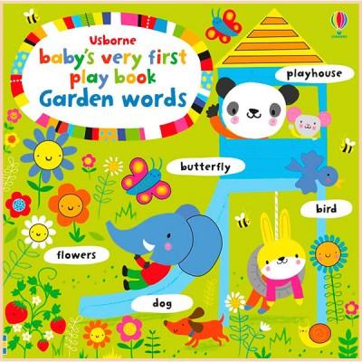 Детская книга с тактильными ощущениями Baby's Very First Play Book: Garden Words