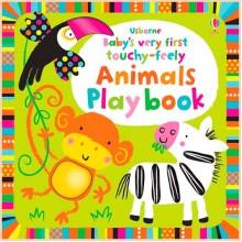 Детская книга с тактильными ощущениями Baby's Very First Touchy-Feely Animals Play Book