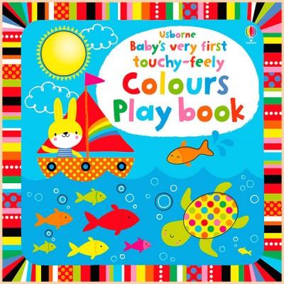 Детская книга с тактильными ощущениями Baby's Very First Touchy-Feely Colours Play Book