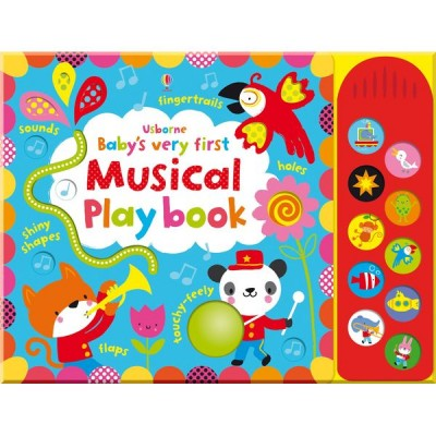 Детская книга с тактильными ощущениями, со звуковыми эффектами Usborne Baby's Very First Touchy-Feely Musical Play Book