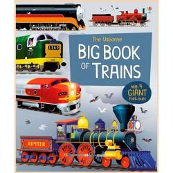 Детская книга Usborne Big Book of Trains (Поезда)