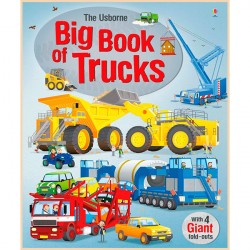 Детская книга Usborne Big Book of Trucks (Грузовики)
