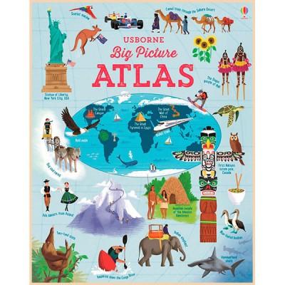 Детская книга Usborne Big Picture Atlas (Атласы)