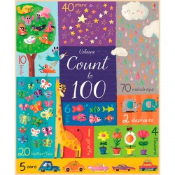 Детская книга Usborne Count to 100 (Big Books)