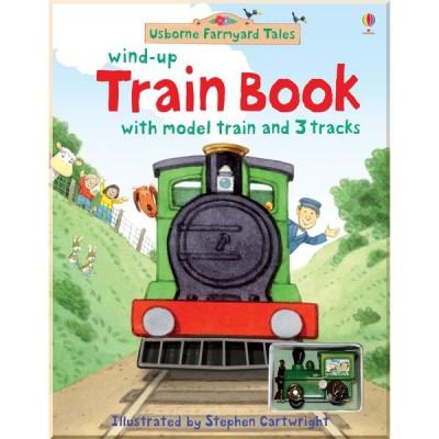 Детская книга-игрушка Usborne Farmyard Tales Wind-up Train Book (Wind-up Books)