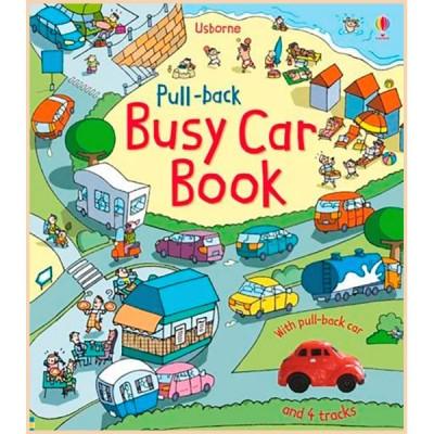 Детская книга-игрушка Usborne Pull-back: Busy Car Books (Pull-back Busy Books)