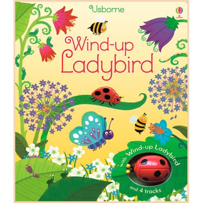 Детская книга-игрушка Usborne Wind-Up Ladybird (Wind-up Books)