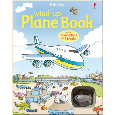 Детская книга-игрушка Usborne Wind-up Plane Book (Wind-up Books)