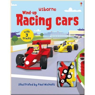 Детская книга-игрушка Usborne Wind-up Racing Cars (Wind-up Books)
