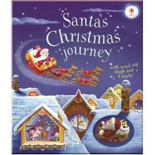 Детская книга-игрушка Santa's Christmas Journey with Wind-up Sleigh