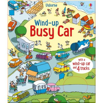 Детская книга-игрушка Usborne Wind-up Busy Car (Wind-up Books)
