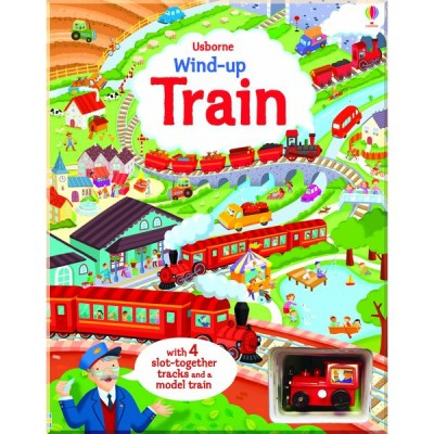 Детская книга-игрушка Wind-up Train Book with Slot-together Tracks