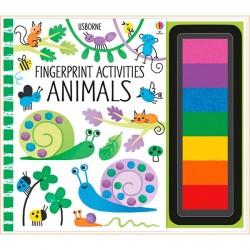 Детская книга-раскраска Usborne Fingerprint activities: Animals