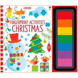 Детская книга-раскраска Usborne Fingerprint Activities Christmas