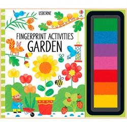Детская книга-раскраска Usborne Fingerprint Activities: Garden