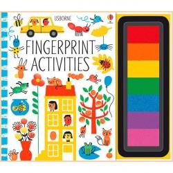 Детская книга-раскраска Usborne Fingerprint Activities