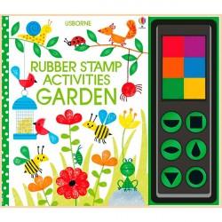 Детская книга-раскраска Usborne Rubber Stamp Activities Garden