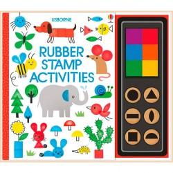 Детская книга-раскраска Usborne Rubber stamp activities