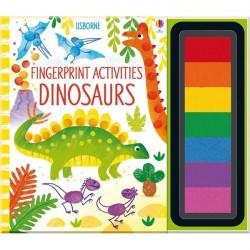Детская книга-раскраска Usborne Fingerprint Activities: Dinosaurs