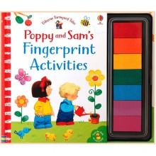 Детская книга-раскраска Usborne Poppy and Sam's Fingerprint Activities